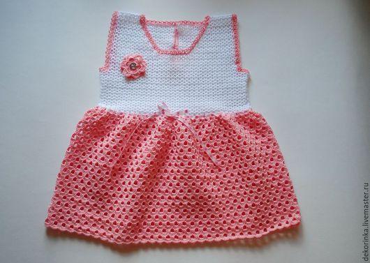"""Одежда для девочек, ручной работы. Ярмарка Мастеров - ручная работа. Купить Платье """"Зефир"""". Handmade. Розовый, платье для девочки, малышам"""