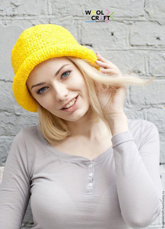 Шляпы ручной работы. Ярмарка Мастеров - ручная работа. Купить Желтая летняя шляпа. Handmade. Желтый, однотонный, шляпа, шляпка