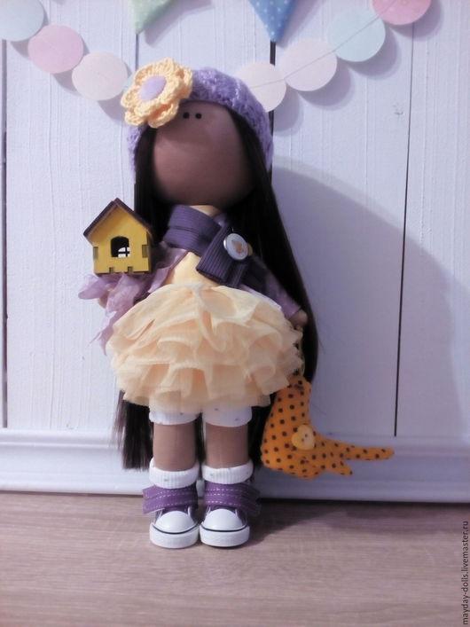 Коллекционные куклы ручной работы. Ярмарка Мастеров - ручная работа. Купить Интерьерная текстильная кукла большеножка Дашенька. Handmade. Лимонный