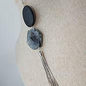 Украшения ручной работы. Ярмарка Мастеров - ручная работа Моносерьга из агата и шунгита. Handmade.