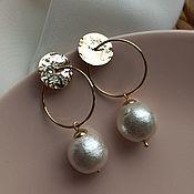 Украшения handmade. Livemaster - original item Hoop earrings: Gold. Handmade.