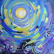 Картины и панно handmade. Livemaster - original item Oil painting and palette knife Flickering in the night.. Handmade.