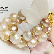 Украшения handmade. Livemaster - original item Princess bracelet Baroque Pearls, zircons. Handmade.