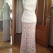 """Одежда ручной работы. Ярмарка Мастеров - ручная работа Вязаная крючком хлопковая юбка """"Ноктюрн"""". Handmade."""