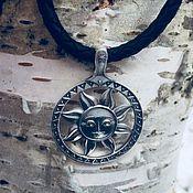 Украшения handmade. Livemaster - original item Bilateral Pendant / Charm Sun (Yarylo) from silver 925. Handmade.