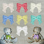 Материалы для творчества handmade. Livemaster - original item Embroidery, appliqué Bow small openwork lace FSL free. Handmade.