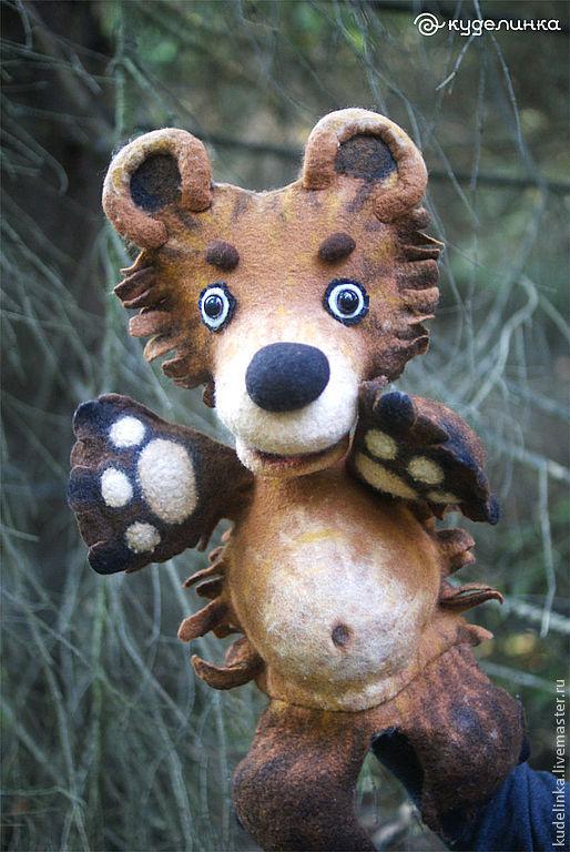 Кукольный театр ручной работы. Ярмарка Мастеров - ручная работа. Купить Медвежонок. Театральная кукла на руку. Перчаточная кукла.. Handmade.