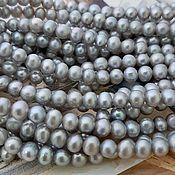 Материалы для творчества handmade. Livemaster - original item 10 PCs. Pearls of natures.5-6 mm gray AA (3589). Handmade.