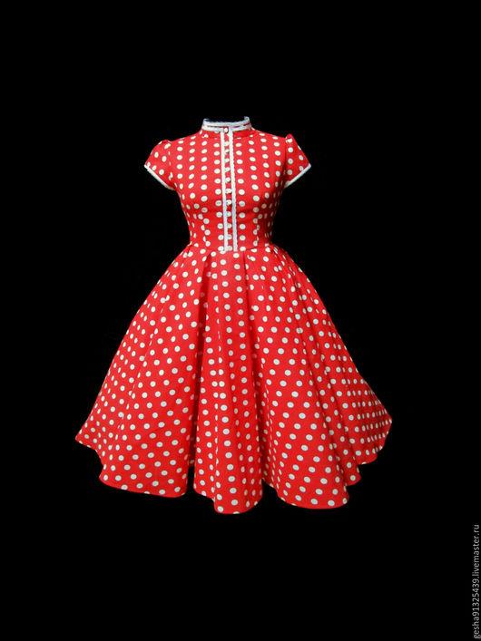 """Платья ручной работы. Ярмарка Мастеров - ручная работа. Купить Платье """"Алые Паруса"""". Handmade. Ярко-красный, платье, стиль"""