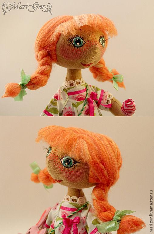 Человечки ручной работы. Ярмарка Мастеров - ручная работа. Купить Симочка (Оранжевое настроение). Handmade. Оранжевый, проволочный каркас