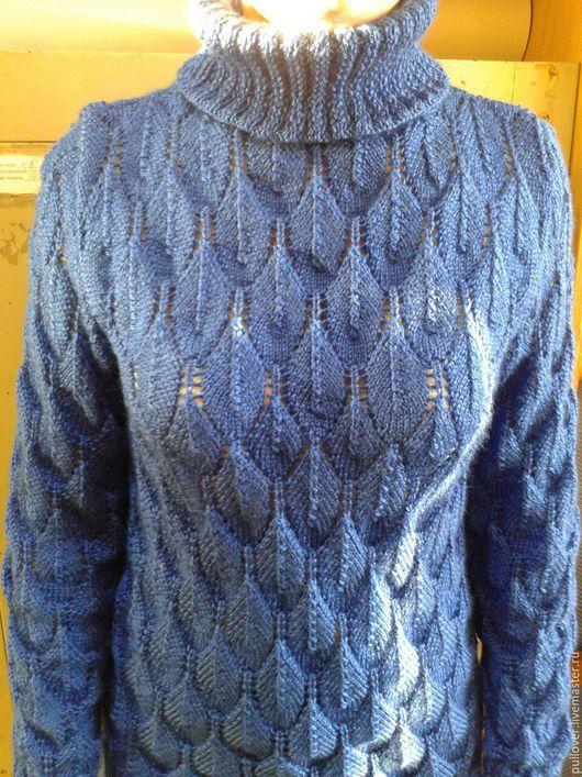 """Кофты и свитера ручной работы. Ярмарка Мастеров - ручная работа. Купить Свитер """"Сапфир"""". Handmade. Тёмно-синий, свитер женский"""