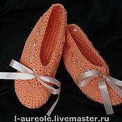 """Обувь ручной работы. Ярмарка Мастеров - ручная работа """"Оранжевое настроение"""" авторские тапочки-балетки ручной рабо. Handmade."""