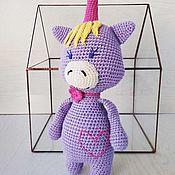 Куклы и игрушки handmade. Livemaster - original item Unicorn lilac. Handmade.