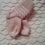 Работы для детей, ручной работы. Ярмарка Мастеров - ручная работа Детские носочки вязаные. Handmade.