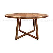 """Столы ручной работы. Ярмарка Мастеров - ручная работа Круглый стол из массива """"Брауни"""". Handmade."""