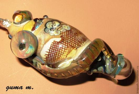 """Кулоны, подвески ручной работы. Ярмарка Мастеров - ручная работа. Купить Кулон в технике Lampwork """"Что-то"""". Handmade. Коричневый"""