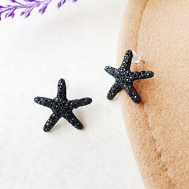 Decorations handmade. Livemaster - original item Earrings starfish. Handmade.