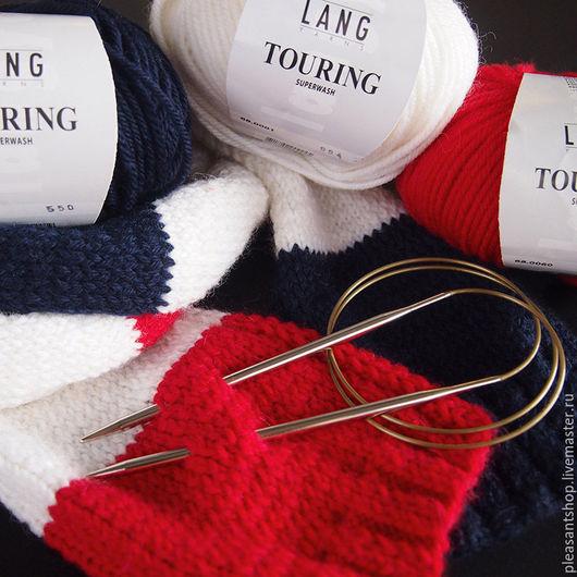 Вязание ручной работы. Ярмарка Мастеров - ручная работа. Купить Набор для вязания шарфа Триколор Hello Knitty Strickschal. Handmade.