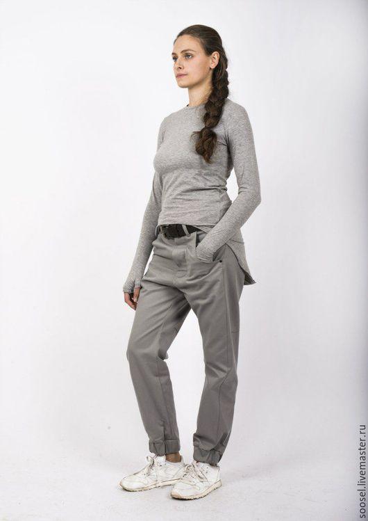 """Кофты и свитера ручной работы. Ярмарка Мастеров - ручная работа. Купить Лонгслив """"Original"""" серый. Handmade. Серый, мода, красота"""