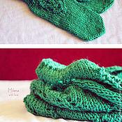 Аксессуары handmade. Livemaster - original item Set knitted Travushka - Muravushka, scarf - snud, bandage and mittens.. Handmade.