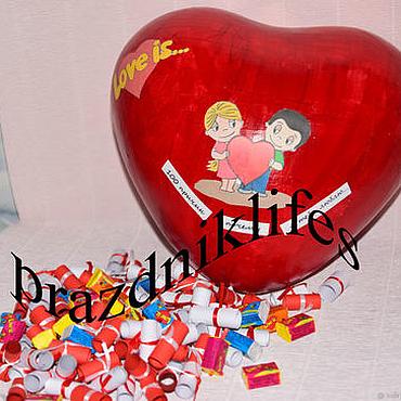 Подарки к праздникам ручной работы. Ярмарка Мастеров - ручная работа 100 причин любви в сердце, подарок на 14 февраля. Handmade.