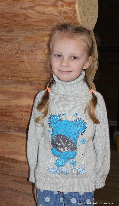 "Свитер для девочки ""Котёнок"", Одежда унисекс, Шуя, Фото №1"