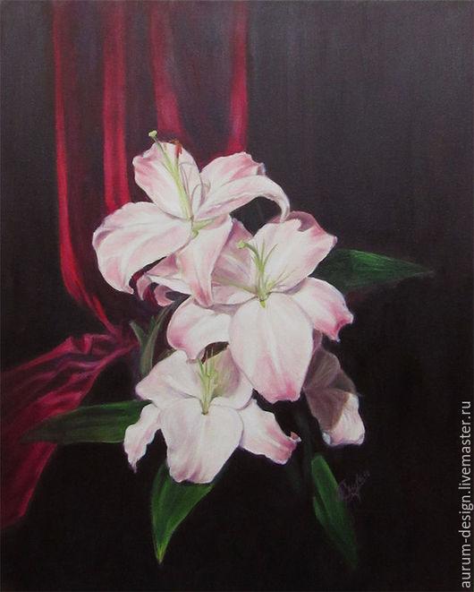 Картины цветов ручной работы. Ярмарка Мастеров - ручная работа. Купить Диптих Белые лилии. Handmade. Картина в подарок, лилии