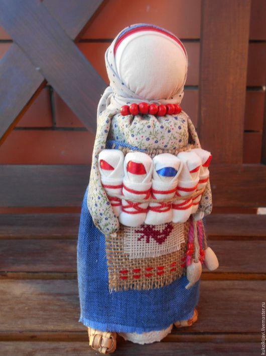 """Народные куклы ручной работы. Ярмарка Мастеров - ручная работа. Купить Кукла народная оберег """"СемьЯ"""".. Handmade. Синий"""