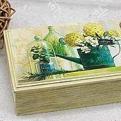 Для дома и интерьера handmade. Livemaster - original item Box of Garden motifs in the Provence style. Handmade.