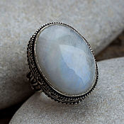 Украшения handmade. Livemaster - original item The Royal ring (a ring) with moonstone (absrom)