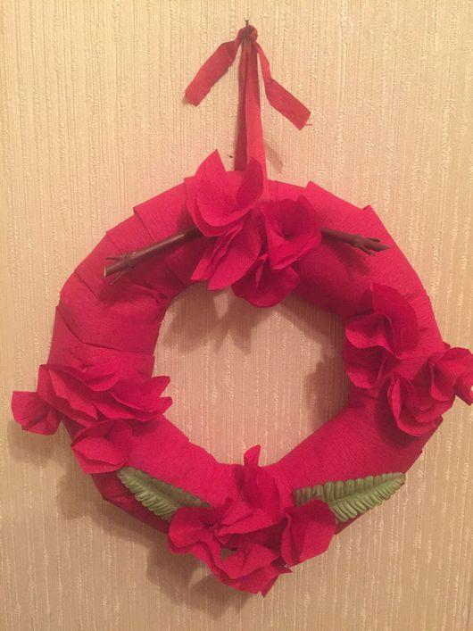Подарки на Пасху ручной работы. Ярмарка Мастеров - ручная работа. Купить Венок пасхальный Красный. Handmade. Пасха, пасхальный декор