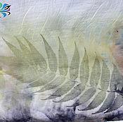 """Аксессуары ручной работы. Ярмарка Мастеров - ручная работа Палантин """"Краски ушедшего лета"""" - шелк, экопринт, натуральное крашение. Handmade."""