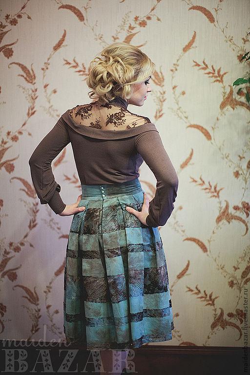Блузка из кружевного полотна с доставкой