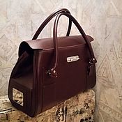 Классическая сумка ручной работы. Ярмарка Мастеров - ручная работа Нарядная кожаная сумка цвета марсала. Handmade.