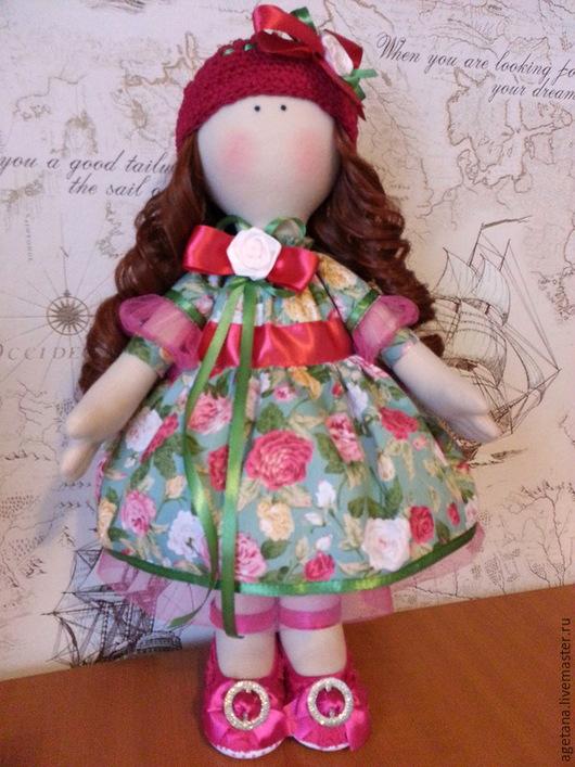 """Куклы тыквоголовки ручной работы. Ярмарка Мастеров - ручная работа. Купить Интерьерная кукла """"Розочка"""". Handmade. Кукла ручной работы"""