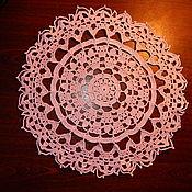 Для дома и интерьера ручной работы. Ярмарка Мастеров - ручная работа Салфетка вязанная крючком розовая. Handmade.