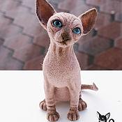 Куклы и игрушки ручной работы. Ярмарка Мастеров - ручная работа Кошка породы сфинкс. Handmade.