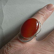 Украшения handmade. Livemaster - original item Ring CARNELIAN, filigree 925 sterling silver.. Handmade.