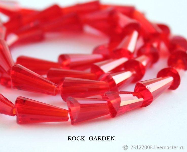 Zircon cone%#%16h7mm red (113), Beads1, St. Petersburg,  Фото №1