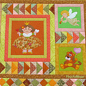Для дома и интерьера handmade. Livemaster - original item Patchwork bedspread-panel