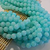 Материалы для творчества handmade. Livemaster - original item Blue Malay jade 10 mm. Handmade.