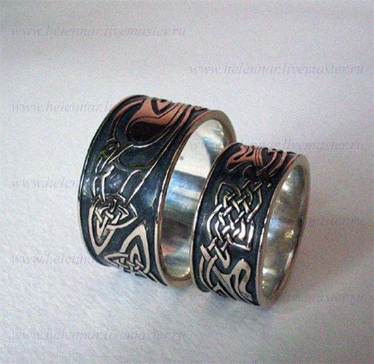 Обручальные кольца с грифонами
