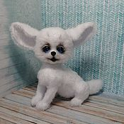 Stuffed Toys handmade. Livemaster - original item Fennec Fox Friendship Bracelet. White Fox.. Handmade.