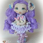 Куклы и игрушки ручной работы. Ярмарка Мастеров - ручная работа Сиреневая куколка. Текстильная куколка.. Handmade.