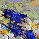 """Картины цветов ручной работы. """"Букет с Ромашками и Васильками"""" - картина маслом (прованс). ЯРКИЕ КАРТИНЫ Наталии Ширяевой. Ярмарка Мастеров."""