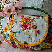 """Комплект для девочки """"Летний сад"""" (сумочка и колье)."""