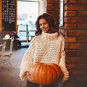 Одежда ручной работы. Ярмарка Мастеров - ручная работа Сливочный свитер. Handmade.