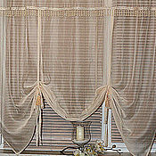 Для дома и интерьера handmade. Livemaster - original item The curtain in the kitchen of the Austrian romans. Handmade.