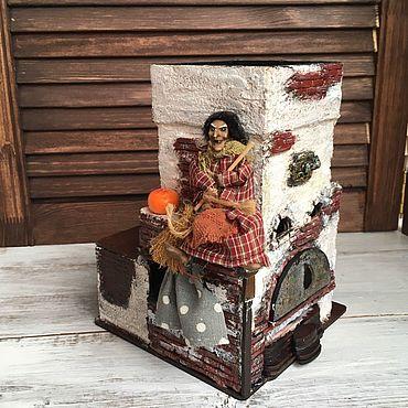"""Для дома и интерьера ручной работы. Ярмарка Мастеров - ручная работа Домики: """"Печка Бабы Яги"""". Handmade."""