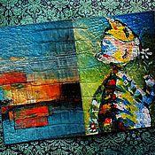 Канцелярские товары ручной работы. Ярмарка Мастеров - ручная работа Обложка на паспорт в стиле АРТ (кошечка). Handmade.